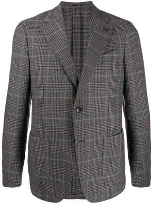 Lardini check fitted blazer