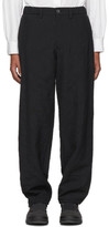 Issey Miyake Men Black Wool Crush Trousers