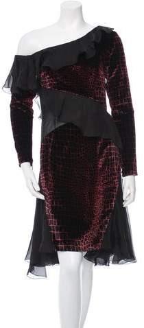 Christopher Kane Silk Off-The-Shoulder Dress w/ Tags