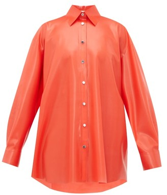 Christopher Kane Latex Blouse - Womens - Red