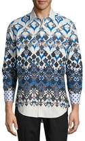 Robert Graham Abstract Printed Casual Cotton Shirt