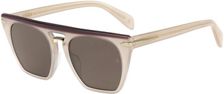 Rag & Bone Flat-Top Square Sunglasses
