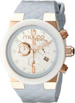 Mulco Women's MW5-2552-413 Couture Analog Display Swiss Quartz Blue Watch