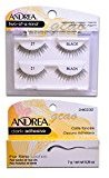 Andrea two of a kind Lashes 21 black + Strip Lashes Glue Dark 0.25 g