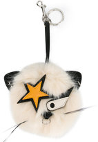 Stella McCartney Star Cat keychain - women - Artificial Fur/Modacrylic/Polyester/Polyurethane - One Size