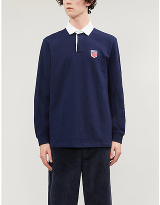 Polo Ralph Lauren Logo-embroidered cotton-knit rugby top