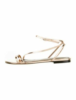 Isabel Marant Metallic Ankle Strap Sandals Copper