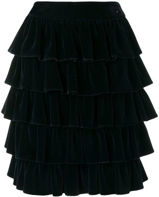Chanel Pre Owned 2001's Ruffled Skirt