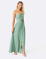 Little Mistress Sage Jewel Waist Maxi Dress