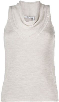 Agnona Cowl-Neck Knitted Tank Top