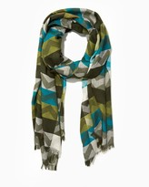 Charming charlie Chevron Fringed Scarf
