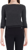 Max Studio Bateau Neck Long Sleeved Pullover