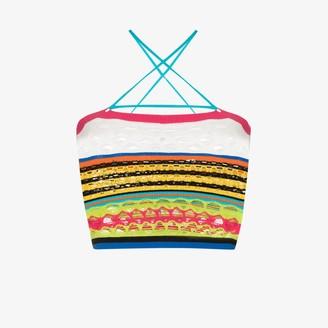 AGR Striped Crazy Knit Crop Top