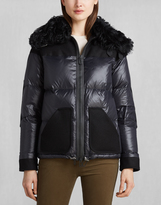 Belstaff Baronet Down Jacket With Fur Black