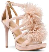 MICHAEL Michael Kors Women's Fara Feather Pom-Pom Suede Sandals