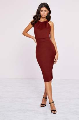 Lipsy High Neck Bodycon Dress - 12 - Red