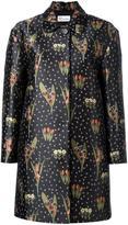 RED Valentino floral jacquard midi coat - women - Polyester/Acetate - 38