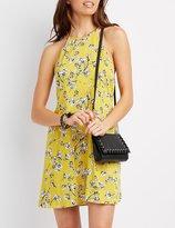 Charlotte Russe Floral Bib Neck Shift Dress