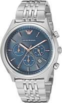 Emporio Armani Men's AR1974 Zeta Analog Display Analog Quartz Silver Watch
