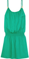 Heidi Klein Key West Voile Mini Dress - Green