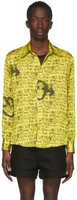 Sankuanz Yellow Graffiti Shirt
