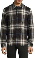 Burberry Walsden Brushed Flannel Casual Button-Down Shirt
