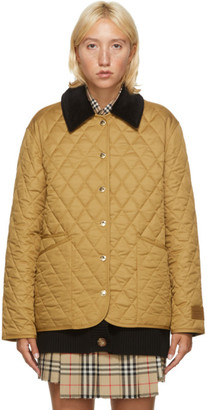 Burberry Brown Quilted Dranefield Jacket