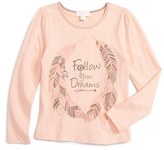 Pumpkin Patch Toddler Girl's Follow Your Dreams Graphic Tee