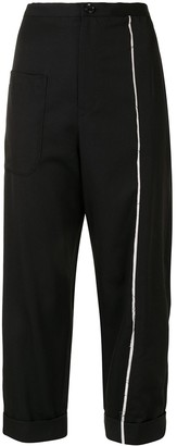 Y's Seam-Detail Cropped Trousers