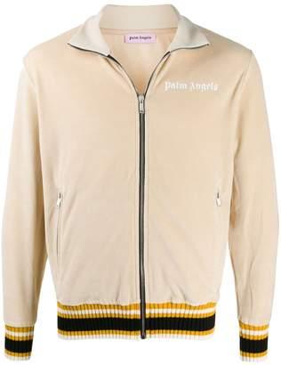 Palm Angels webbing stripe-trimmed track jacket