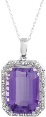 Generic Gemstones 14K 0.20 Ct. Tw. Diamond & Amethyst Necklace