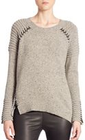 Generation Love Eleanor Whipstitch Rib-Knit Sweater