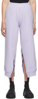 MM6 MAISON MARGIELA SSENSE Exclusive Purple Split Lounge Pants