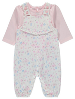 George Floral Dungarees and Top Set