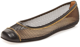 French Sole Women's Wanadoo Mesh Cap-Toe Ballet Flat