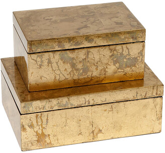 Global Views Luxe Gold Leaf Box