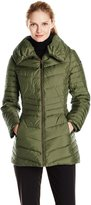 Andrew Marc by Women's Kirby Short Chevron Down Coat