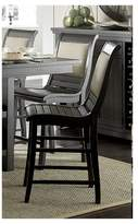 Progressive Willow Counter Upholstered Dining Chair - Distressed Black (Set Of 2)