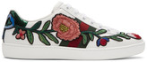 Gucci - Baskets blanches Floral &