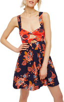 Free People Baby It's You Floral Print Mini Dress