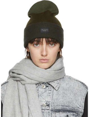 Rag & Bone Khaki Wool Addison Beanie
