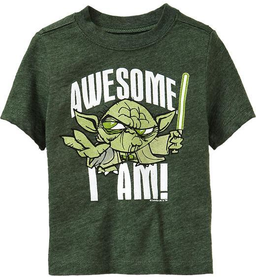 """Star Wars Star Wars™ """"Awesome I Am!"""" Tees for Baby"""