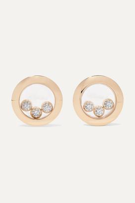 Chopard + Net Sustain Happy Diamonds 18-karat Gold Diamond Earrings - one size