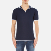 Orlebar Brown Erick Tipped Polo Shirt Navy/white Tipping