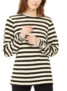Michael Kors Striped Long-Sleeve Top, Regular & Petite