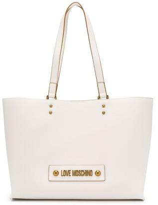 Love Moschino logo plaque internal compartment tote bag