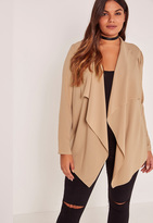Missguided Camel Plus Size Waterfall Crepe Jacket