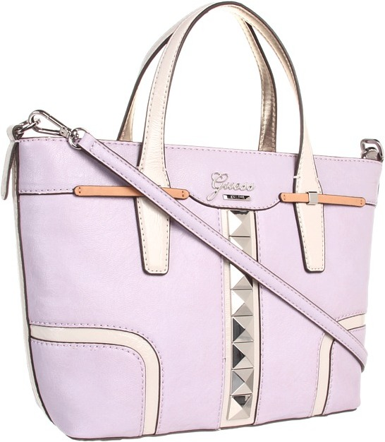 GUESS Gladis Small Carryall (Lilac Multi) - Bags and Luggage