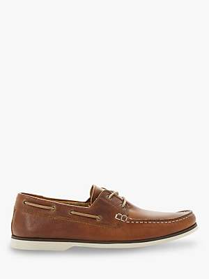 Bertie Battleship Leather Boat Shoes, Tan