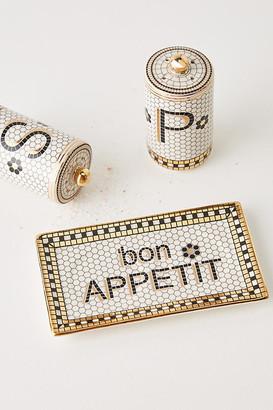 Anthropologie Bistro Tile Salt & Pepper Shakers By in Assorted Size SLT/PEPPER